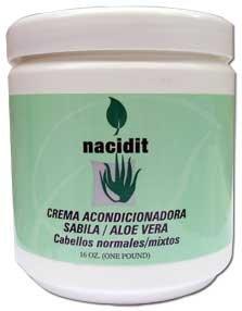 Nacidit Crema Acondicionadora Sabila - Aloe Vera Conditioning Cream (16 oz.)