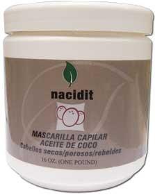 Nacidit Mascarilla Capilar Aceite de Coco - Coconut Oil Hair Mask (16 oz.)