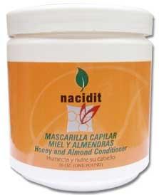 Nacidit Mascarilla Capilar Miel y Almendras - Honey and Almond Hair Mask (16 oz.)