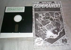 COMMANDO � Commodore C-64 Arcade Type Game � Data East