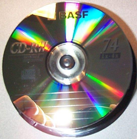 CD-RW BASF Spindle of 25 NEW CDRW