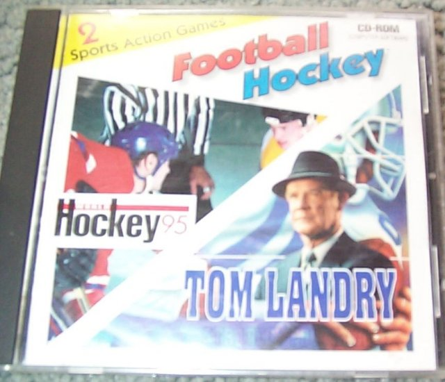 World Hockey 95 & Tom Landry Strategy Football on 1 CD - old PC games