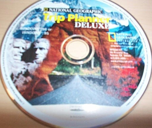 National Geographic Trip Planner Deluxe old software pc - disk only