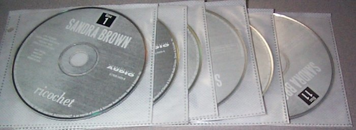 Ricochet by Sandra Brown AUDIO BOOK CDs ISBN 0743554256