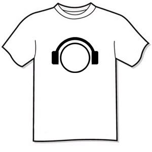 T-shirt - DJ Headphones