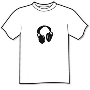T-shirt - HEADPHONES