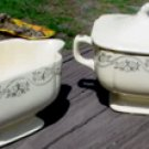 Vintage Homer Laughlin Cream & Sugar