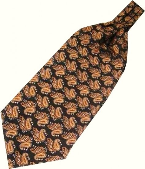 Brown/Orange Paisley Ascot/Cravat