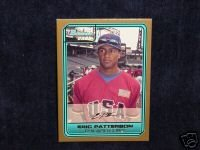 Eric Patterson 2006 Bowman gold rookie card Oakland Athletics Mlb