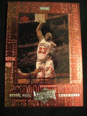 Michael Jordan 1999 Upper Deck Athlete of the century Upper Deck Remembers insert card Chicago Bulls