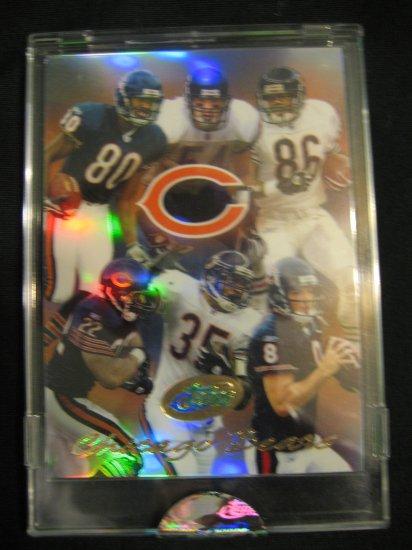2004 etopps Chicago Bears Team card refractor Brian Urlacher  Marty Booker Rex Grossman