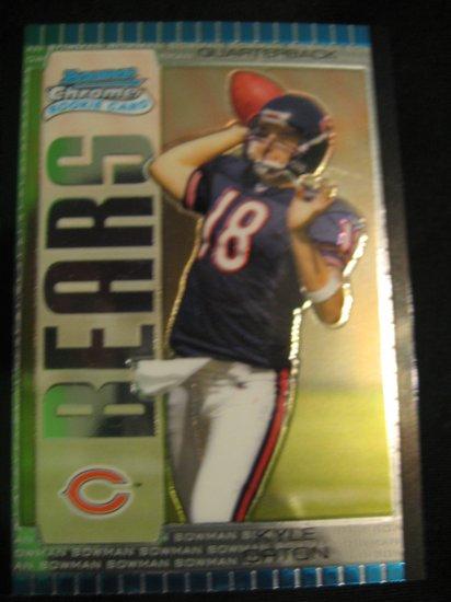 2005 Kyle Orton Bowman Chrome rookie card Denver Broncos Quarterback