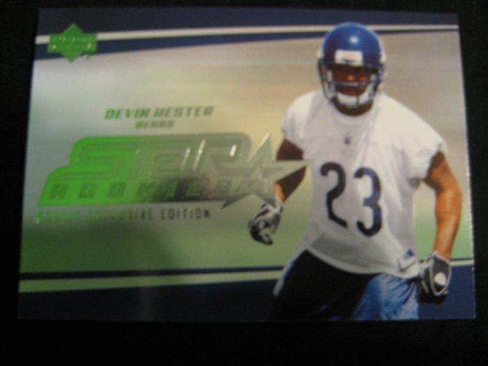 2006 Devin Hester Upper Deck Star rookie card Chicago Bears