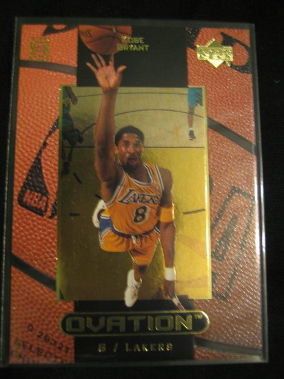 Kobe Bryant 99 Upper Deck Ovation card Los Angeles Lakers