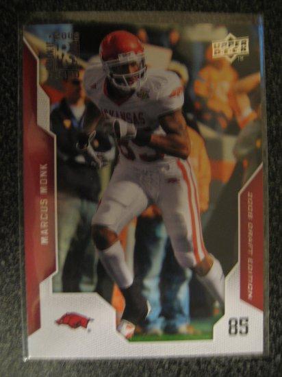 Marcus Monk 2008 Upper Deck Draft Edition rookie card Chicago Bears Wide receiver Razorbacks