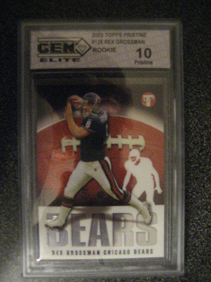 Rex Grossman 2003 Topps Prestine Gem Mint 10 rookie card Chicago Bears Quarter Back