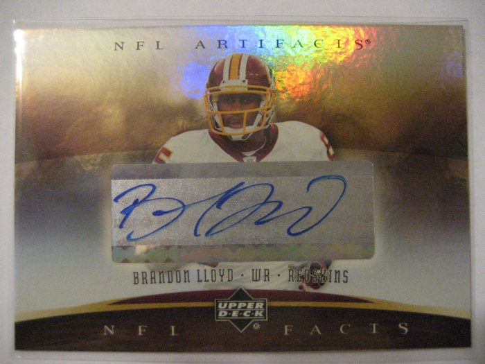 Brandon Lloyd 07 Upper Deck Artifacts Autograph card Chicago Bears