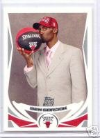 Ben Gordon 04 Topps rookie card Chicago Bulls