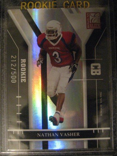 Nathan Vasher 04 Donruss Elite rookie card Chicago Bears # 212/500