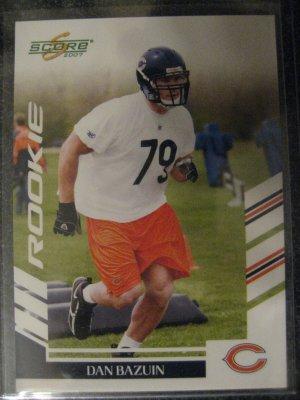 Dan Bazuin 06 Score rookie card Chicago Bears
