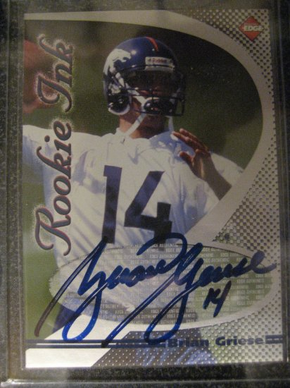 Brian Griese 98 Collectors Edge Rookie ink Autograhed rookie card Tampa Bay