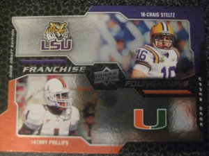Craig Steltz Kenny Phillips 08 Upper Deck Franchise Foundations rookie card Chicago Bears