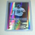 Dusty Dvoracek 06 Donruss Threads rookie card Chicago Bears serial numbered 444/999