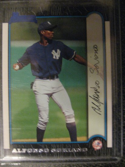 Alfonso Soriano 99 Bowman rookie card Chicago Cubs