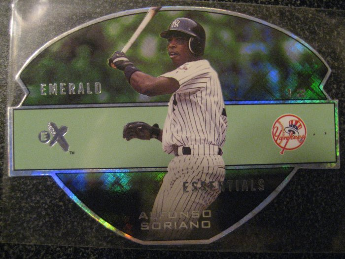 Alfonso Soriano 03 Ex Emerald Essentials Chicago Cubs