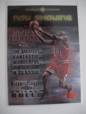Michael Jordan 99 Upper Deck Now Showing insert card Chicago Bulls
