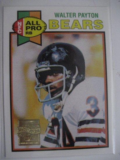 Walter Payton 01 Topps Commemorative Series 1979 reprint Chicago Bears
