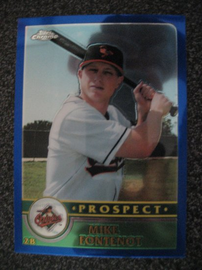 Mike Fontenot  03 Topps Chrome rookie card Chicago Cubs aka Little Babe Ruth