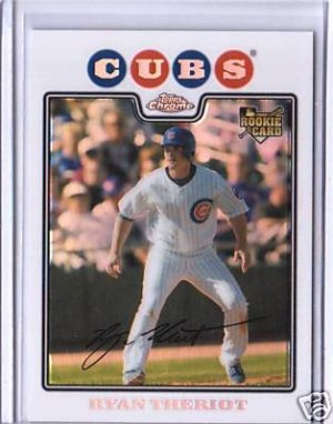 Ryan Theriot 08 Topps Chrome rookie REFRACTOR Chicago Cubs