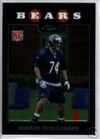 Chris Williams 2008 Topps Chrome rookie card Chicago Bears