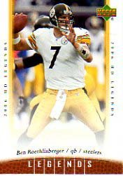 Ben Roethlisberger 06 Upper Deck Legends Pittsburgh Steelers