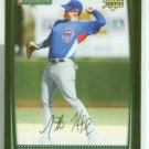 Micah Hoffpauir 08 Bowman draft rookie (4) card lot Chicago Cubs