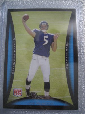 08 Bowman Joe Flacco rookie card Baltimore Ravens