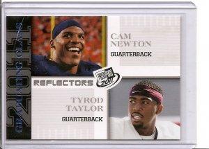 2011 Graduating Class Cam Newton / Tyrod Taylor Reflector rookie card Carolina Panthers