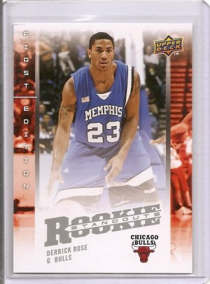 Derrick Rose 08-09 UD rookie standout RC card Chicago Bulls