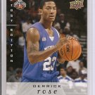 08-09 Upper Deck Derrick Rose rookie card Chicago Bulls