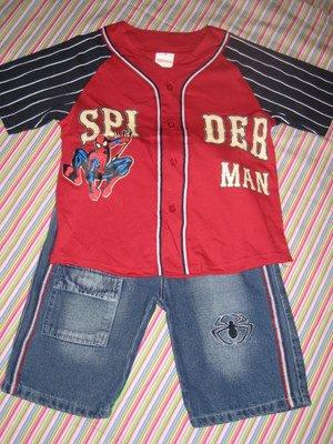 SPIDER-MAN DENIM SHORTS & TOP SET