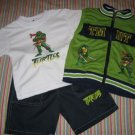 NINJA TURTLES SHORTS, TOP & VEST SET