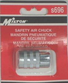 AIR CHUCK S 696 KWIK-GRIP SAFETY CHUCK 1/4 NPT MILTON