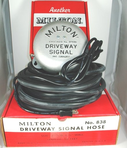 MILTON DRIVEWAY SIGNALS 805 WITH 25FT SIGNAL HOSE