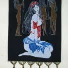 chinese batik art  mural painting- praying girl
