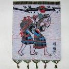 chinese batik art mural painting-Wa nationality's  tour