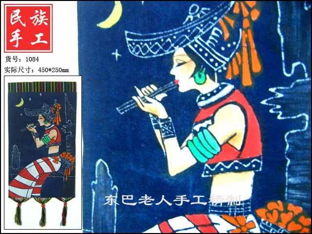 chinese batik art  mural painting-dulcet singing