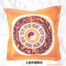 Embroider art backrest pillow04