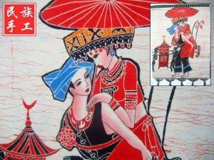chinese batik art mural painting, wall hanging-wive