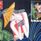 chinese batik art mural painting, wall hanging-have a break